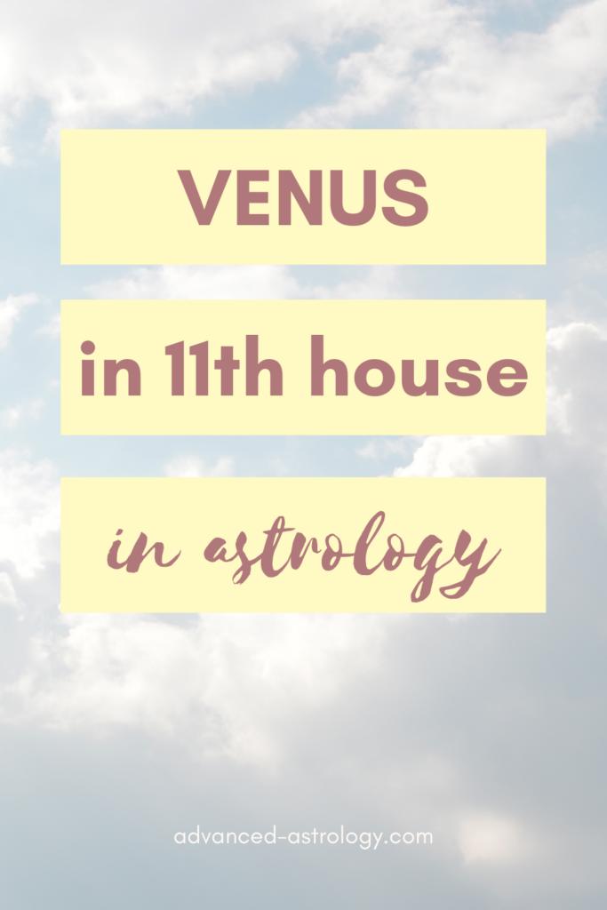 venus in eleventh house