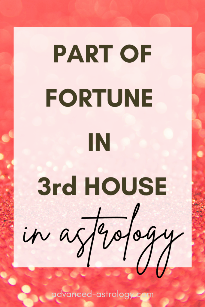 part of fortune in 3rd house