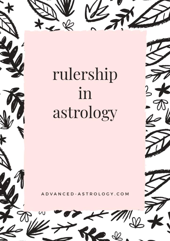 rulership in astrology