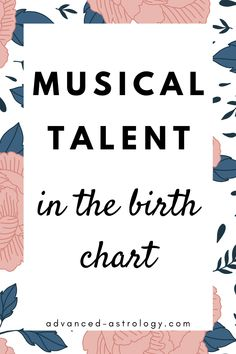 musical and singing talent astrology