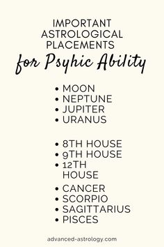 psychic ability astrology