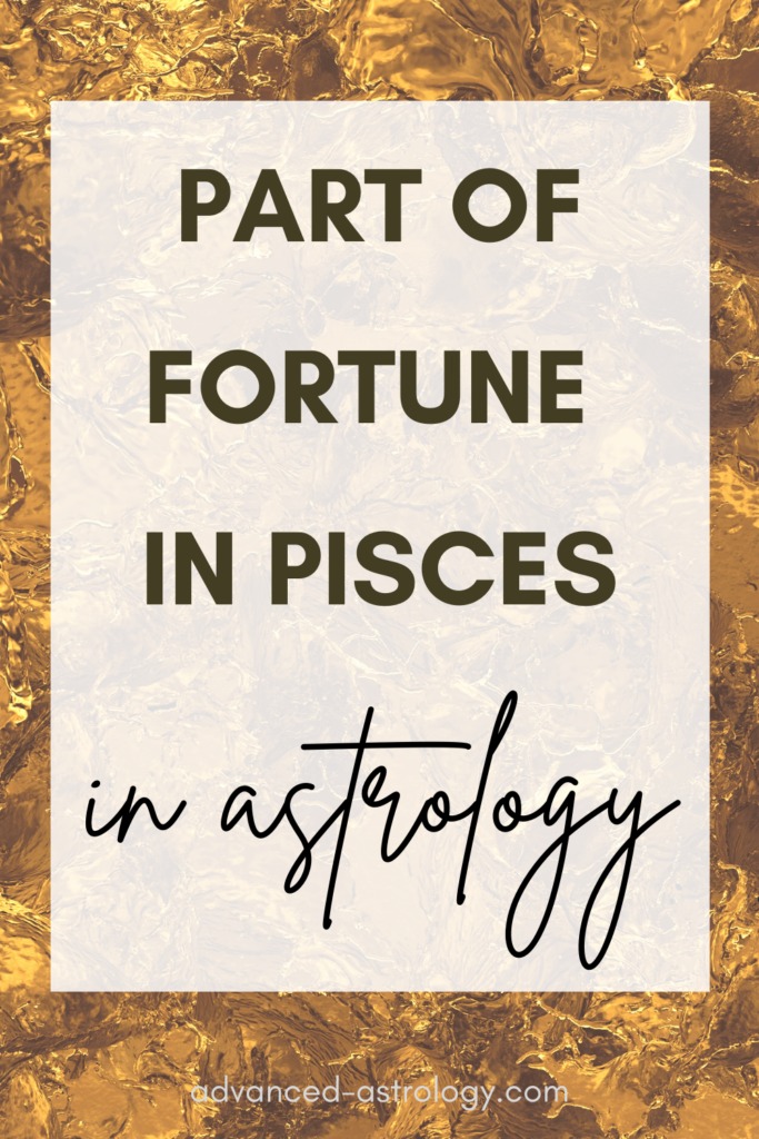 part of fortune in pisces