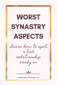 Worst synastry aspects