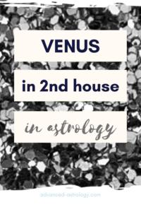 Venus in 2nd house