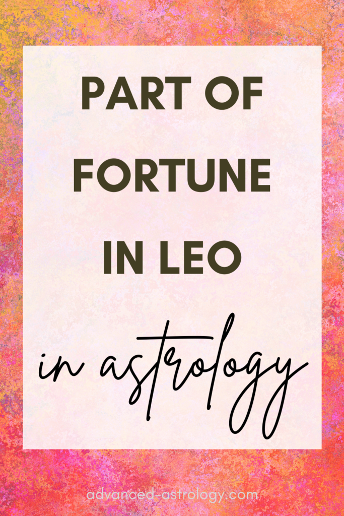 part of fortune in Leo