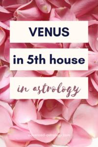 Venus in 5th house