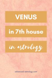 Venus in 7th house