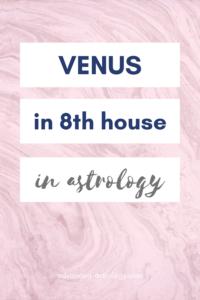 Venus in 8th house