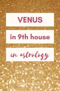 Venus in 9th house