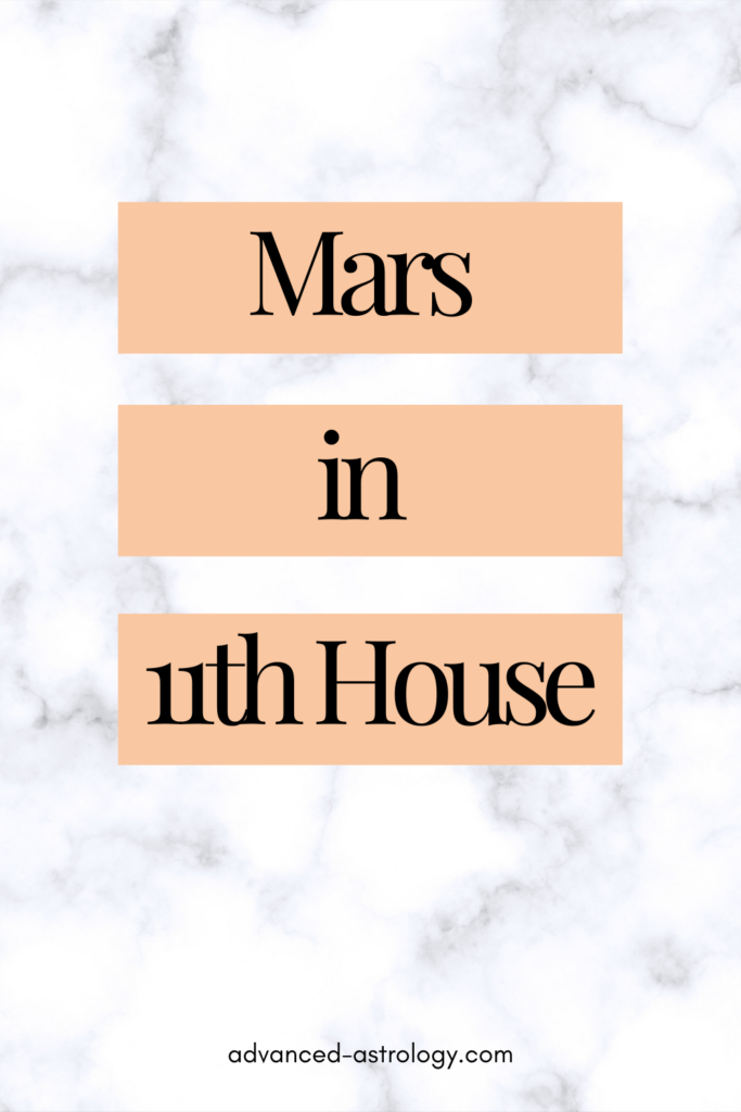 mars in eleventh house