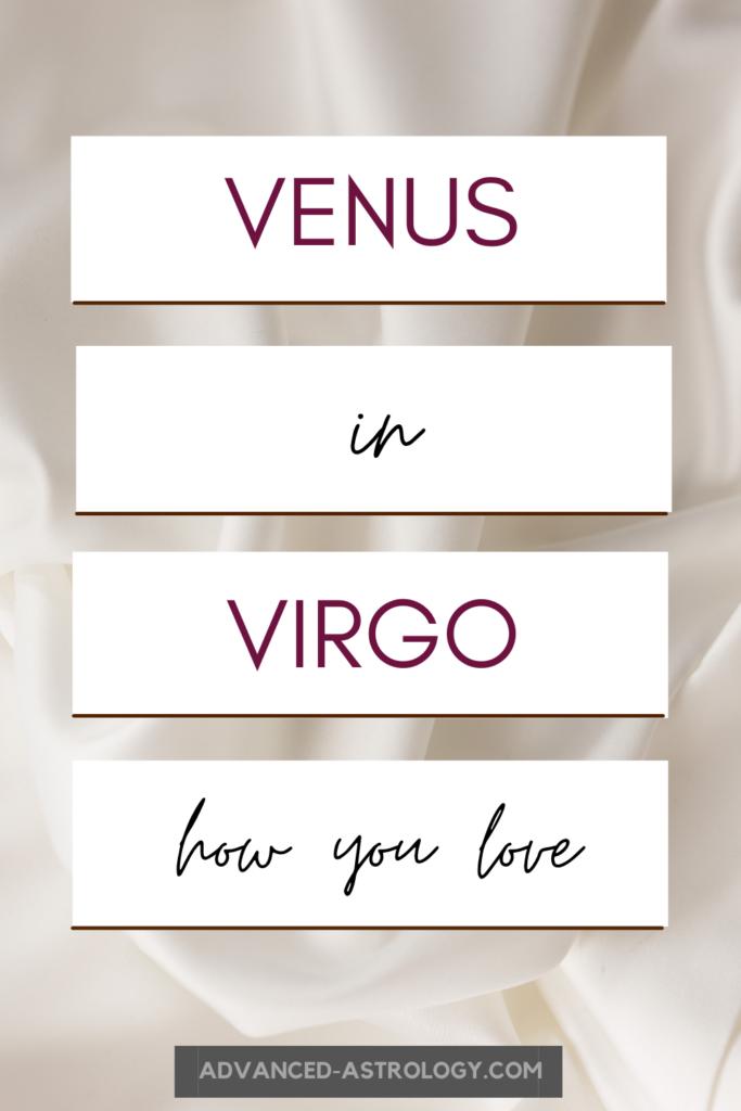 venus in virgo