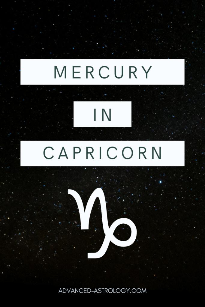 mercury in capricorn