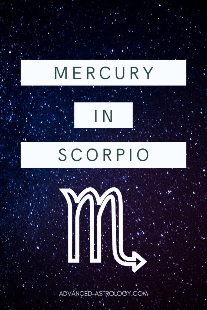 Mercury in Scorpio