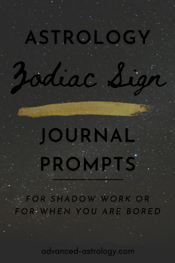 Astrology journal prompts